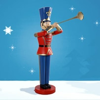 Lifesize Toy Soldier With Trumpet