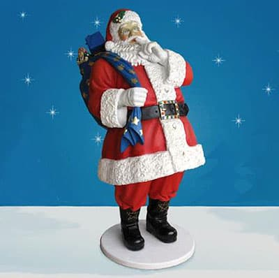 Life Size Santa with Toy Bag