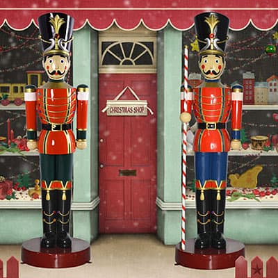 Life Size Toy Soldier and Toy Soldier w/Baton