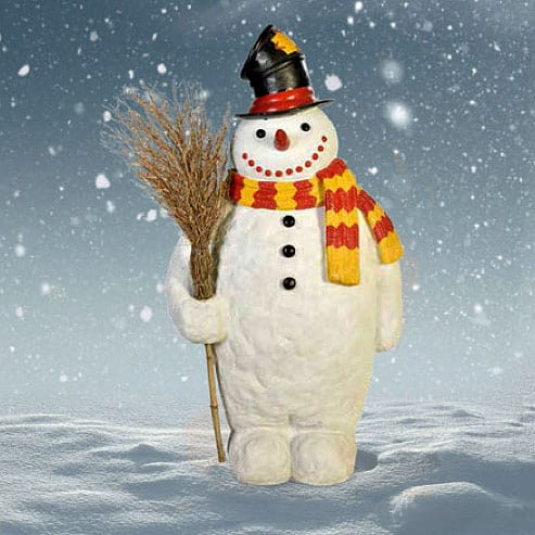 Giant Snowman with Brush Broom