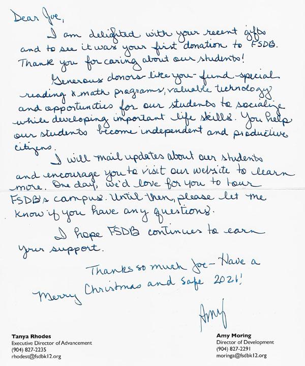 FSB Letter